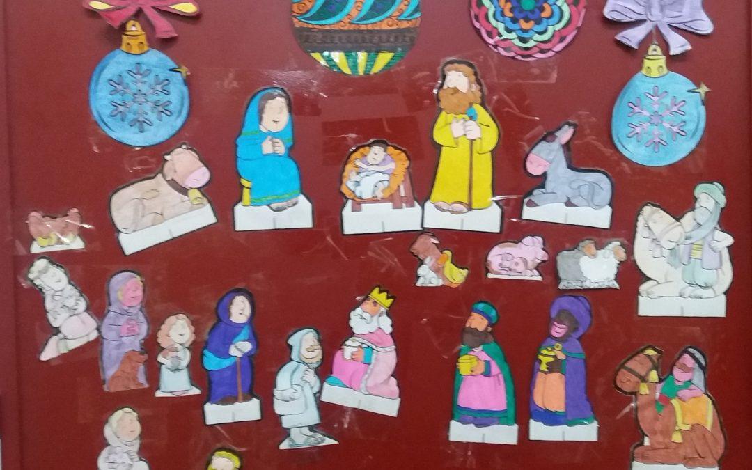 Decoración navideña, un trabajo en grupo