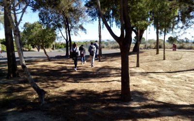 Los alumnos de 3º de PMAR  dieron su clase de Biología y Geología en el Parque