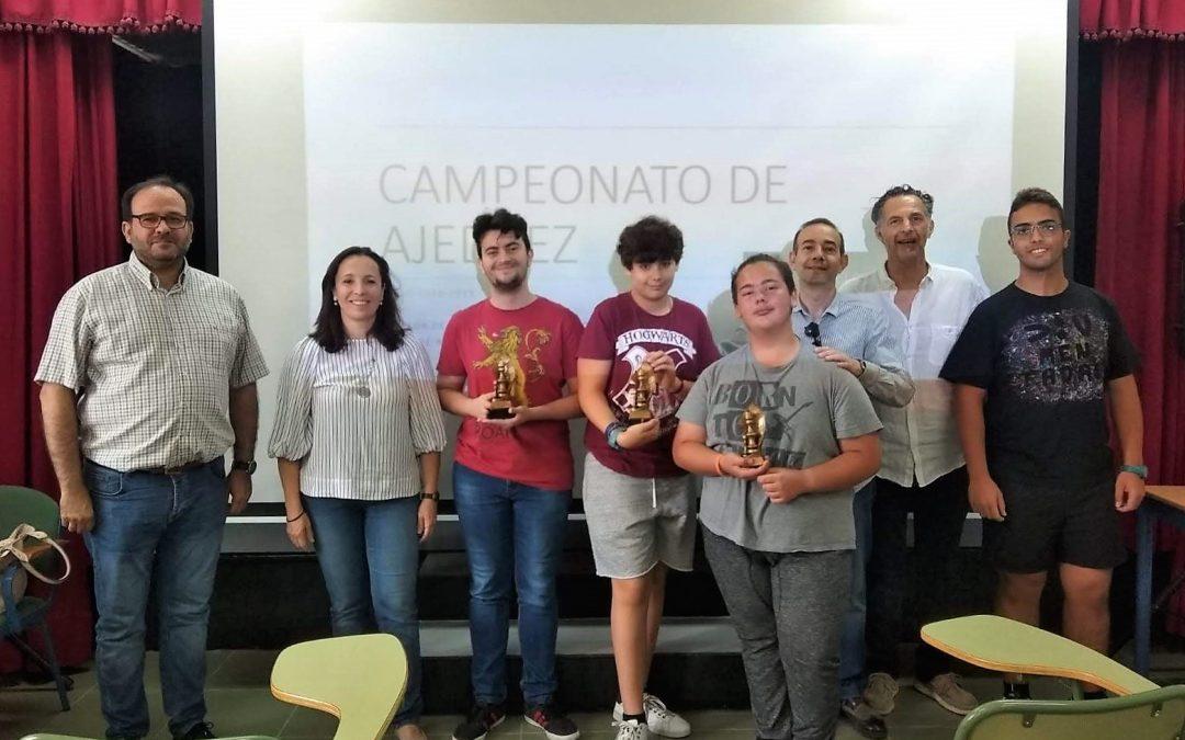 Entrega de premios del campeonato de ajedrez  del IES EL ALQUIÁN