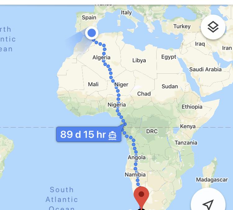 Desafío aceptado: de Almería a Ciudad del Cabo, casi noventa días andando (y estudiando).